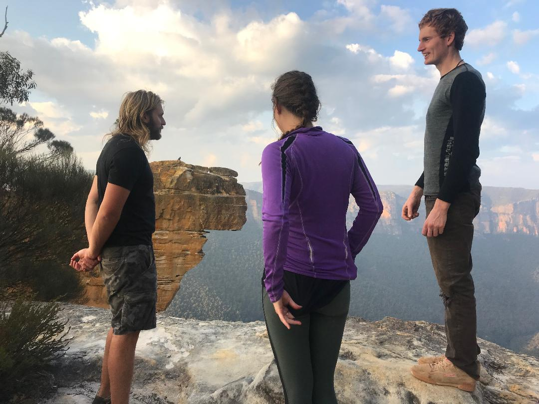 hanging rock blackheath nsw australia